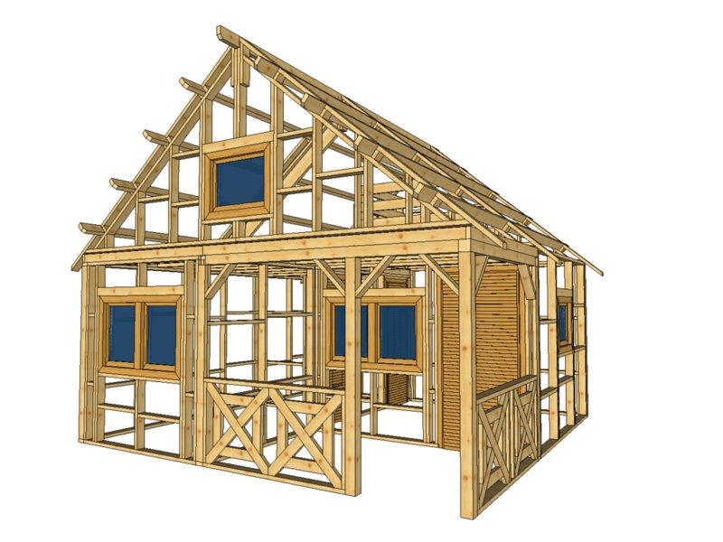 Domek z drewna