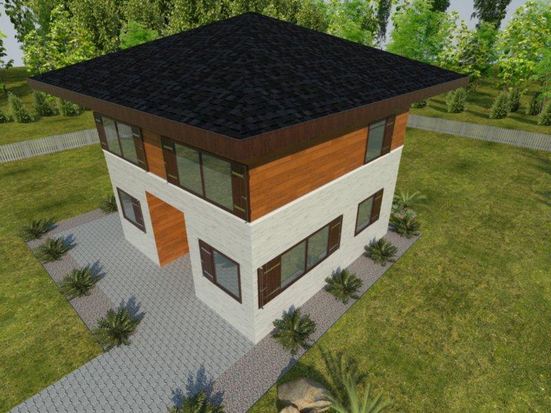 drewnolandia dom łukasz z dachem kopertowym