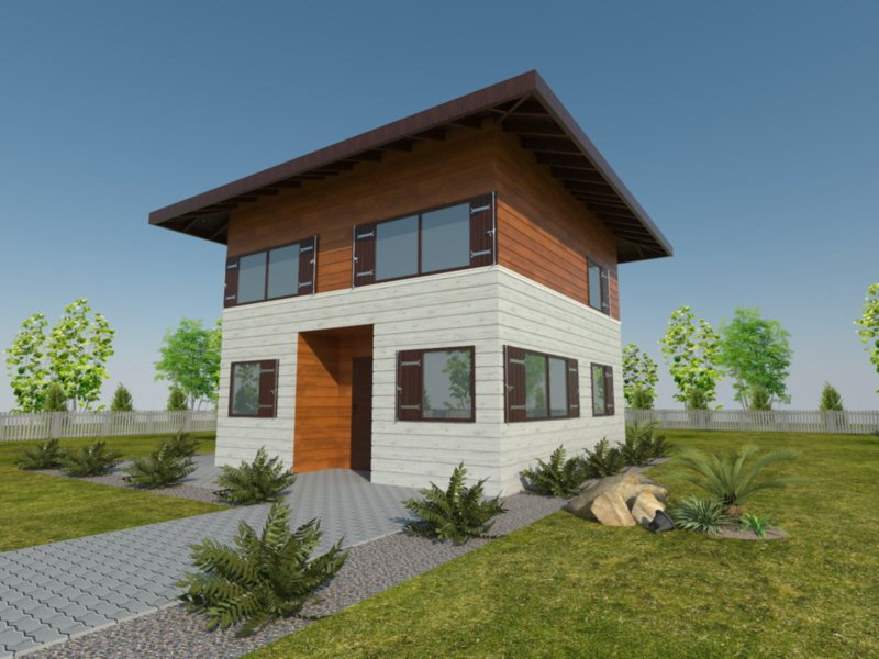 dom z poddaszem 35m2