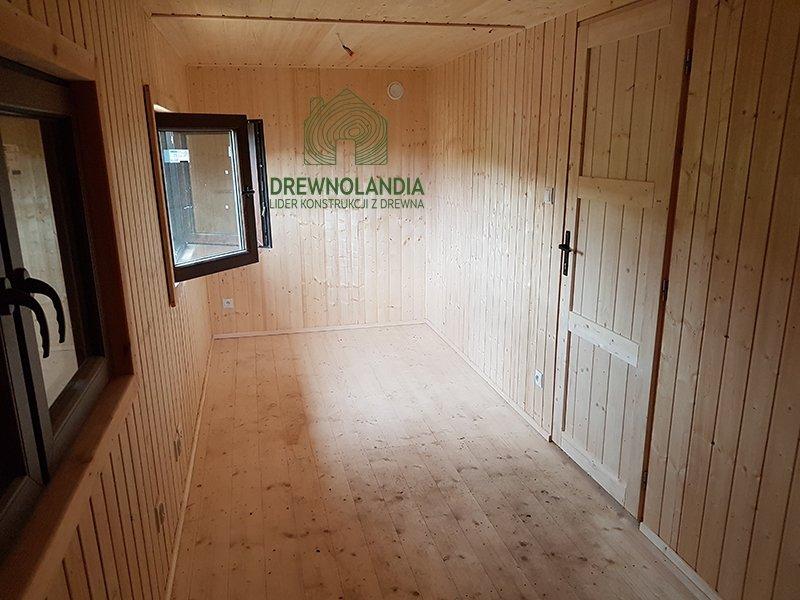 Drewniane domki wnetrze