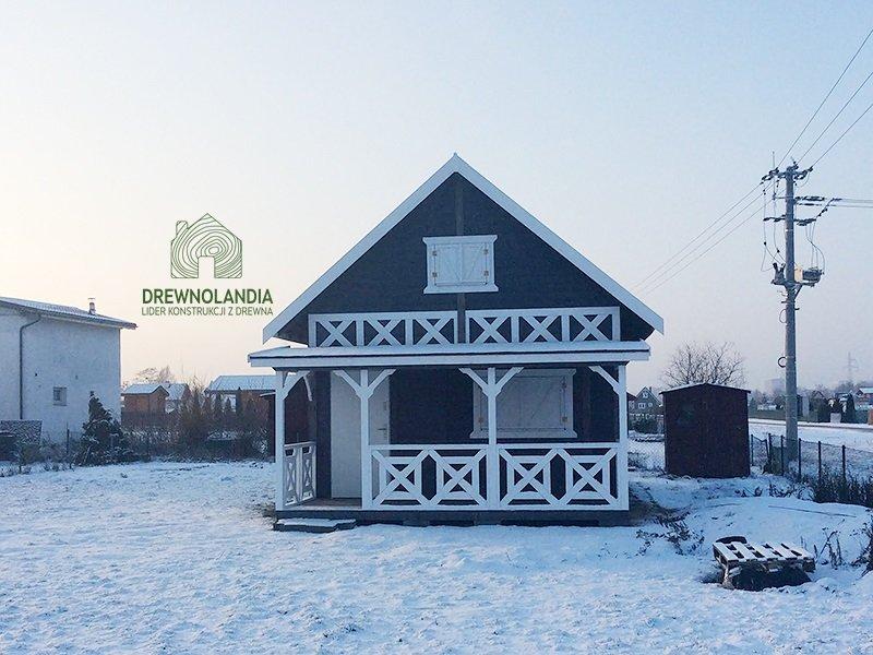 domek drewniany z tarasem cena