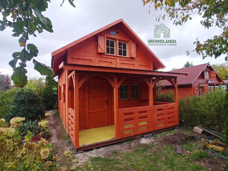drewniany domek do ogrodu janusz