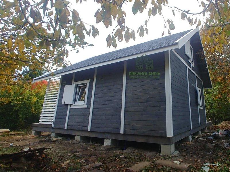 Drewniane duze domy cena okna malowanie