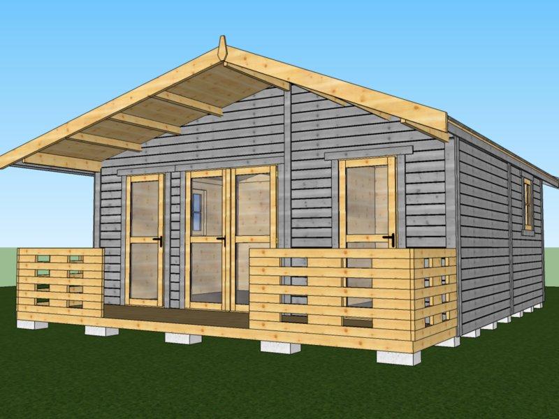 transport i montaż domków drewnianych