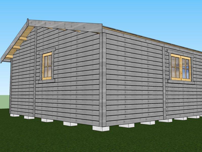zgłoszenie domku z drewna