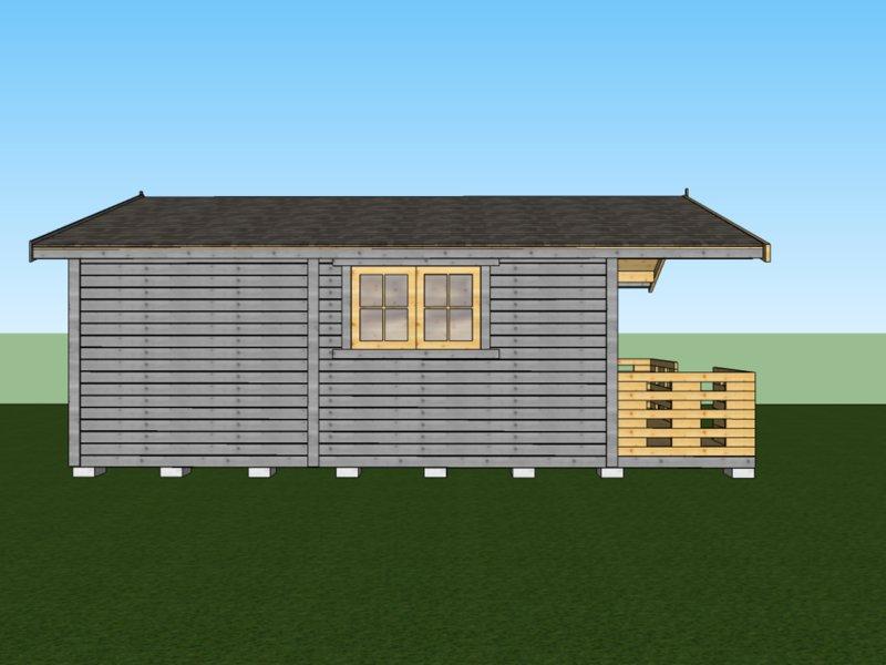 parterowy domek drewniany drewnolandia