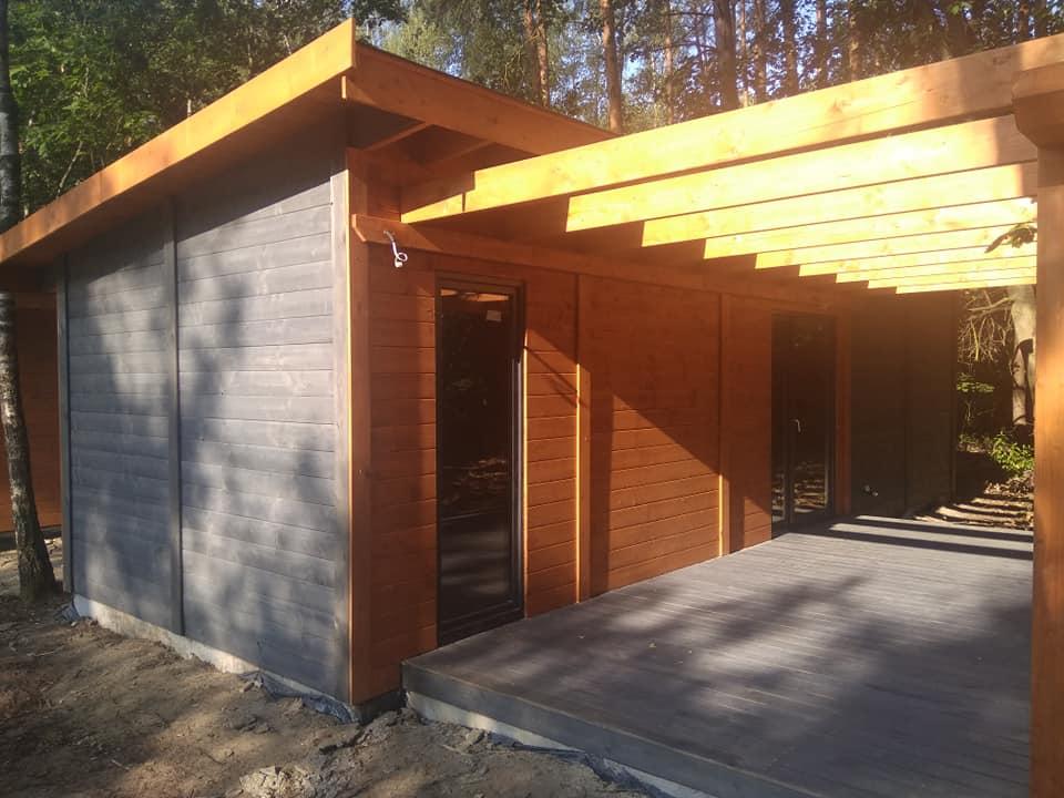 domek drewniany parterowy