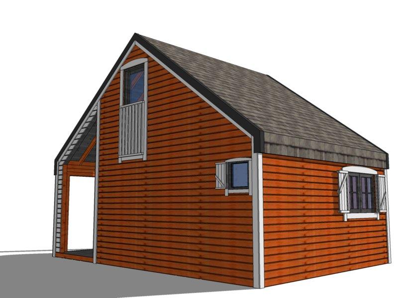 domki drewniane na działkę
