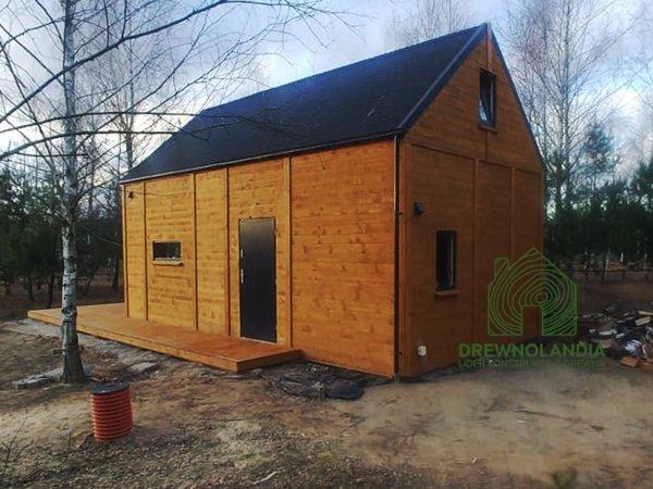 nowoczesny drewniany domek na działkę 35m2