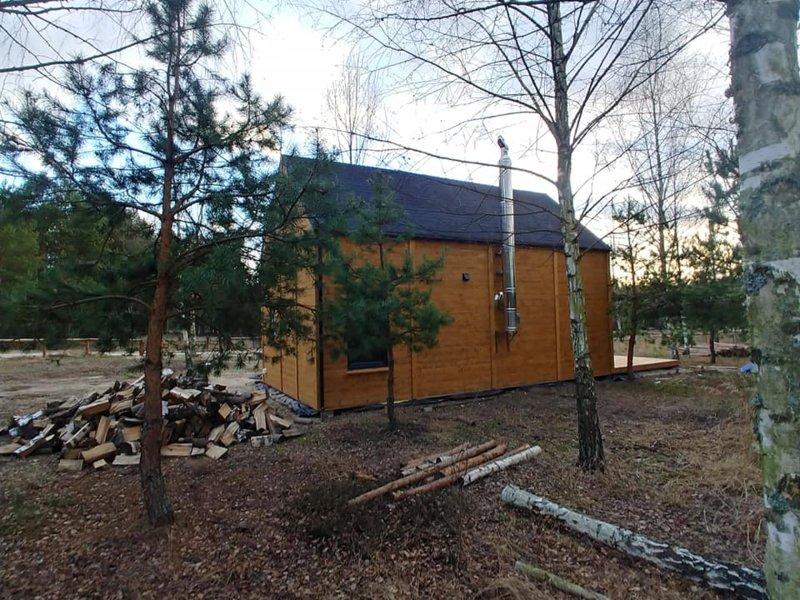 atrakcyjny dom drewniany letniskowy  32m2 na działkę