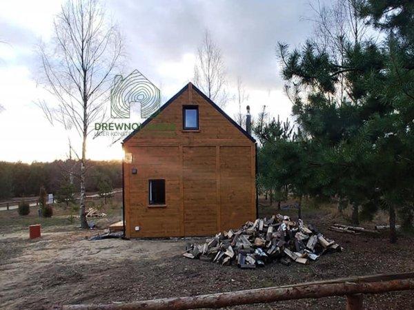 domek z drewna marcin  z tarasem niezadaszonym
