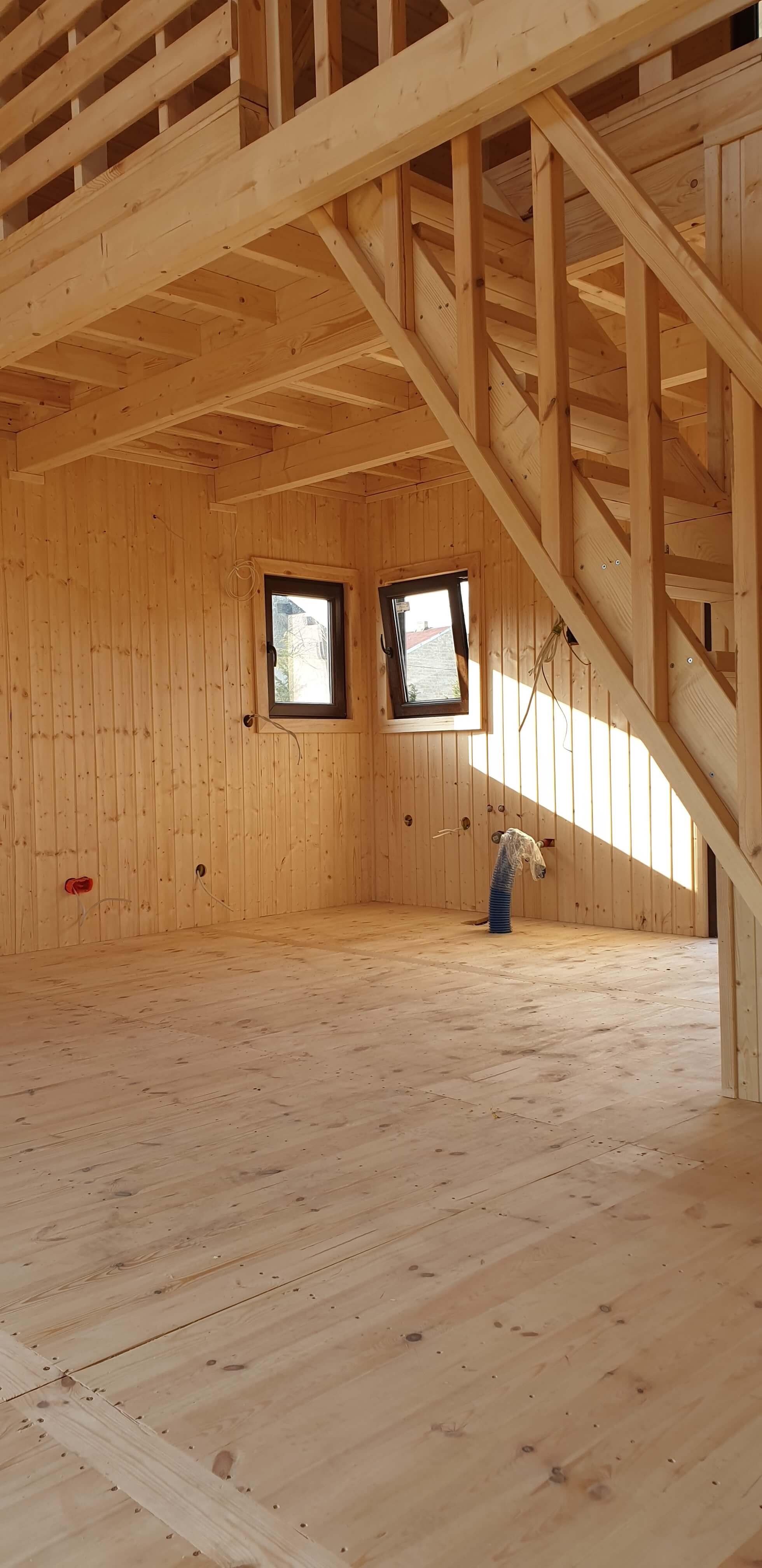 wykończenie ścian domku